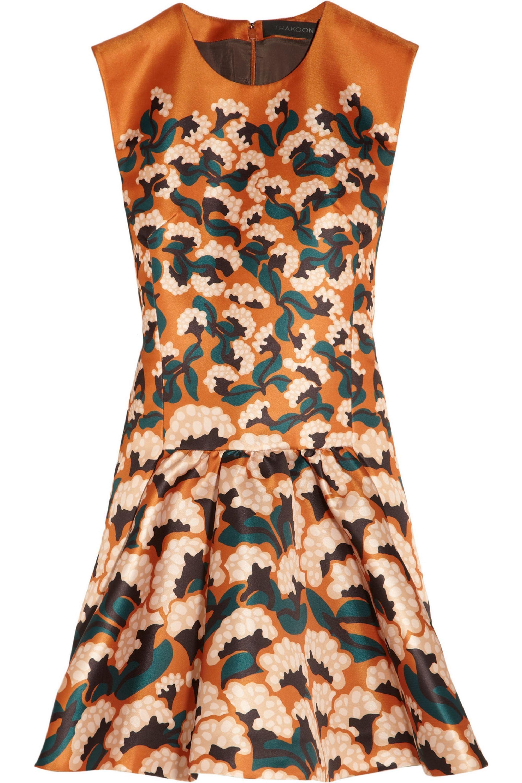 Thakoon Printed sateen dress