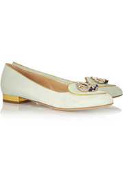 Charlotte Olympia Libra suede slippers