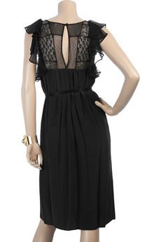 Rebecca TaylorLace ruffle dress
