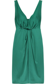 Alberta Ferretti Silk satin cocktail dress
