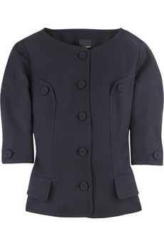 Fendi Cropped collarless jacket