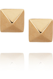 Spike 14-karat rose gold stud earrings