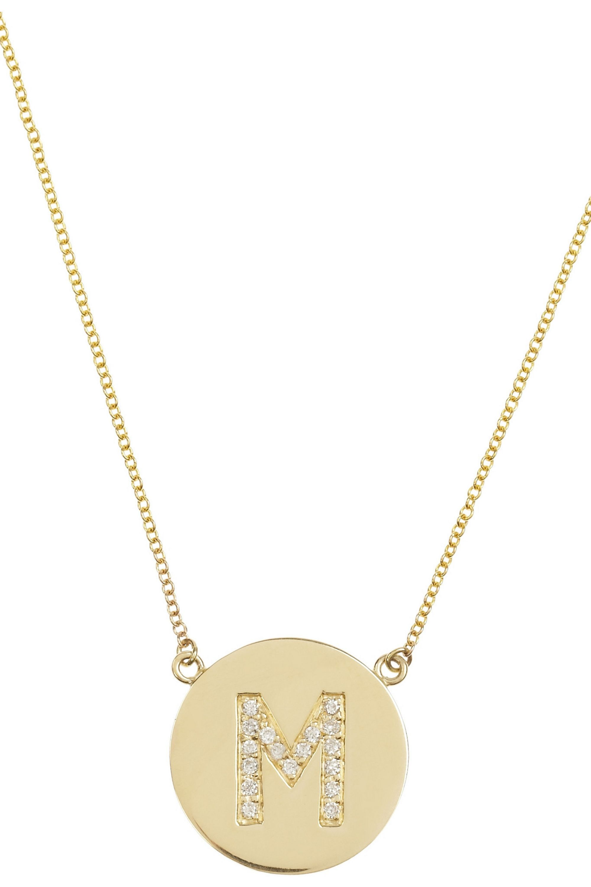 Jennifer Meyer 18-karat gold diamond letter necklace
