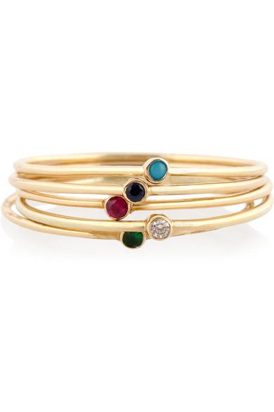 18-karat Gold Multi-stone Ring - 7 Jennifer Meyer UoqjwV4K
