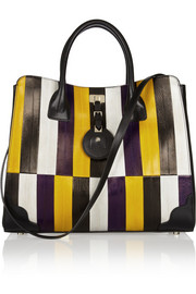 Jason Wu Jourdan striped eel and leather tote