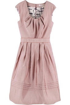 Lela Rose Silk faille dress