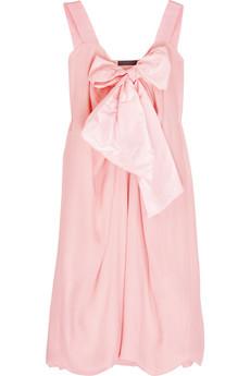 Donna KaranSilk bow-front dress