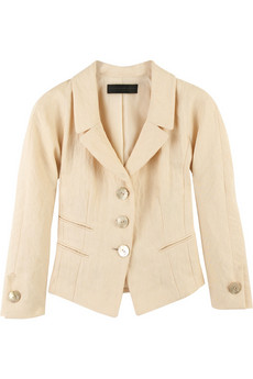 Donna Karan Crinkled cropped jacket