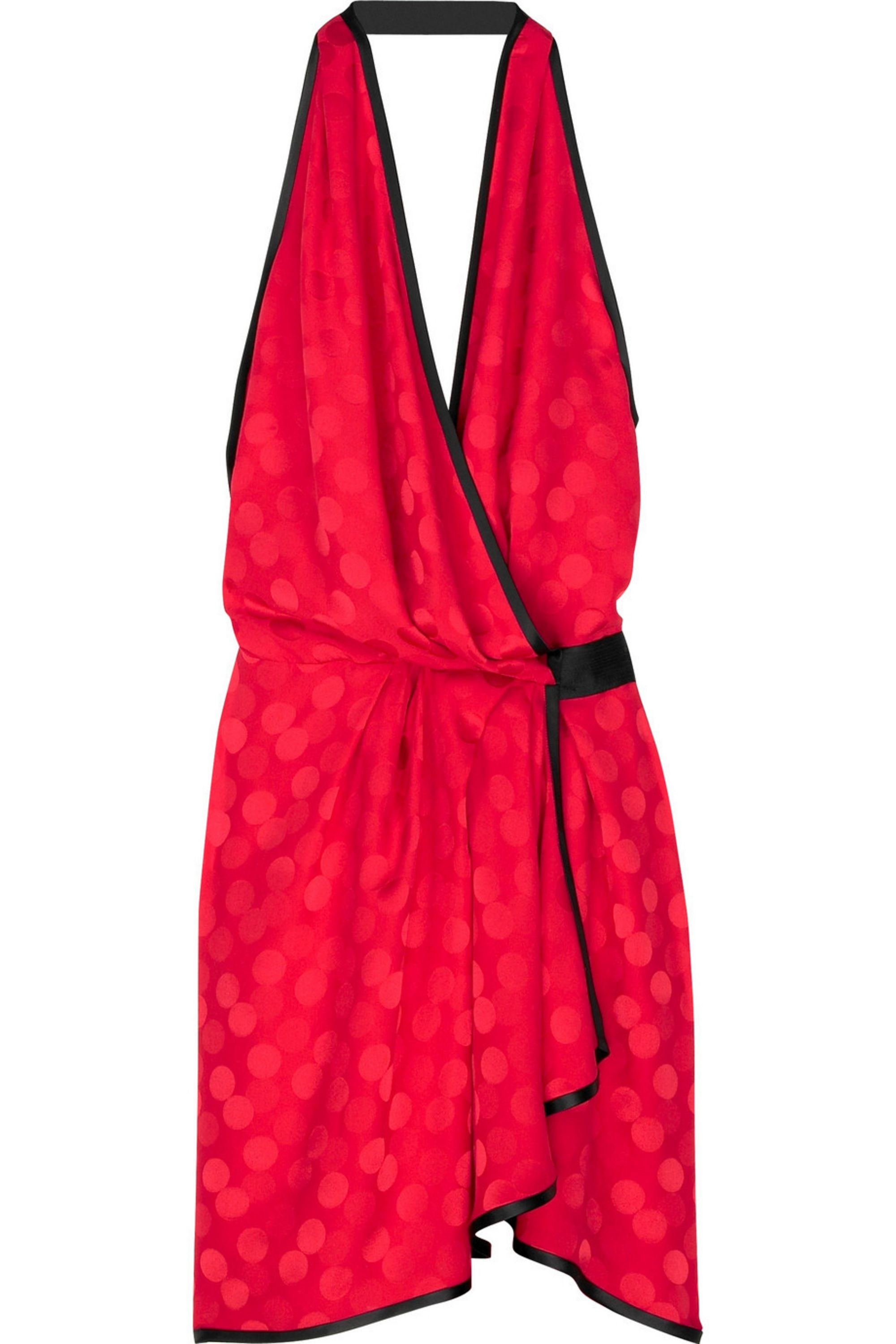 Tomato Red Spotty Wrap Dress Runway Marc Jacobs Net A Porter