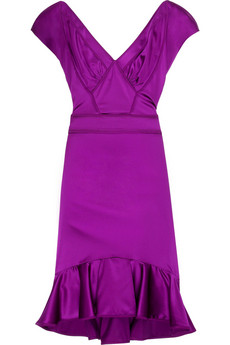 Zac Posen Cove satin dress