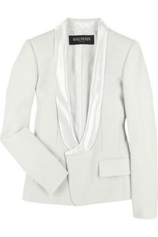 Balmain Wool satin tuxedo jacket |NET-A-PORTER.COM