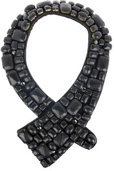 3.1 Phillip LimLeather gem neck piece