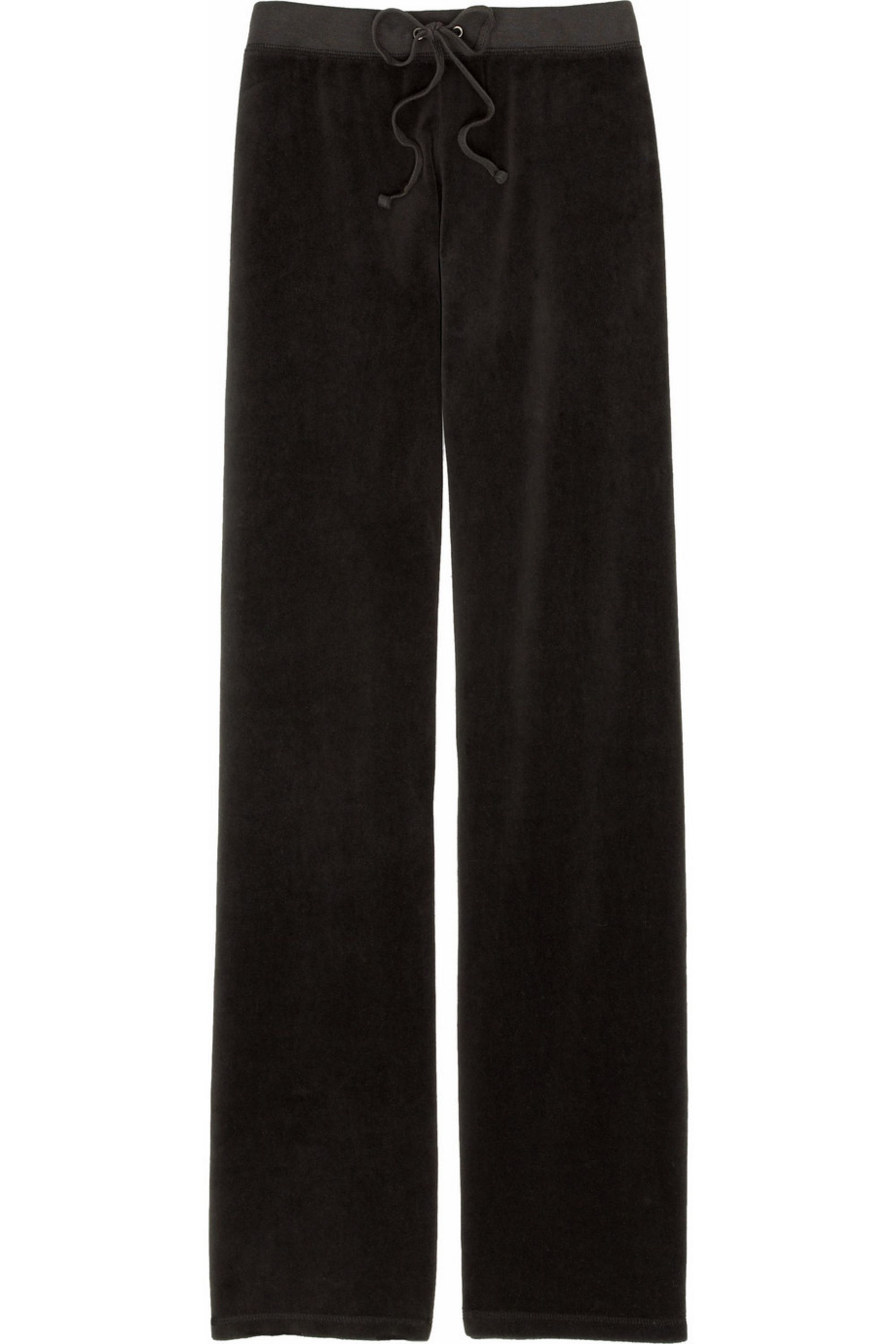 Chocolate Velour Track Pants Juicy Couture Net A Porter