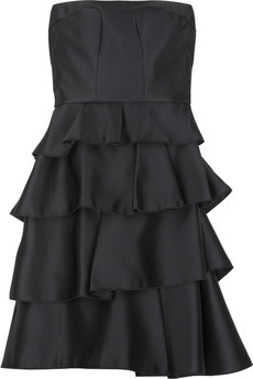 Miu Miu Strapless tiered dress