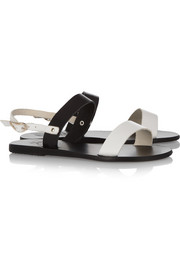 Ancient Greek Sandals Clio two-tone leather sandals