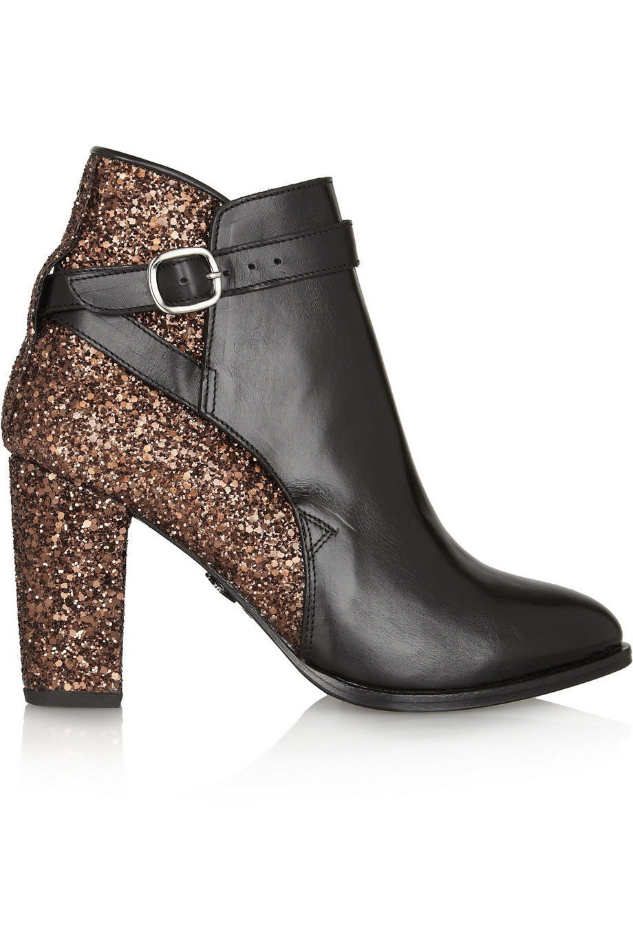 markus lupfer glitter finish leather ankle boots
