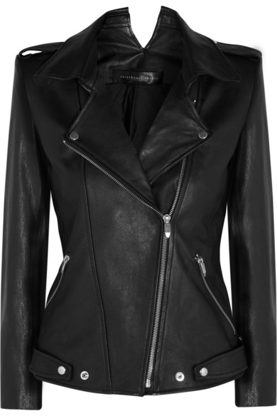 Theyskens Theory Nomi Leather Biker Jacket Net A Porter Com