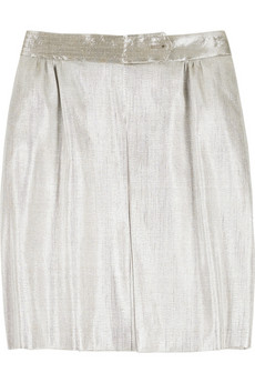 Stella McCartney Metallic pleated skirt