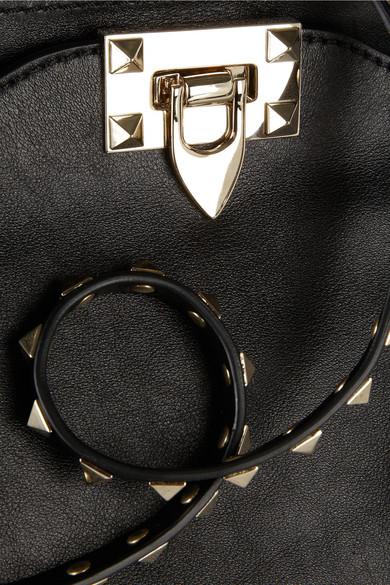 Valentino Rockstud Medium Trapezoidal Bag Of Leather