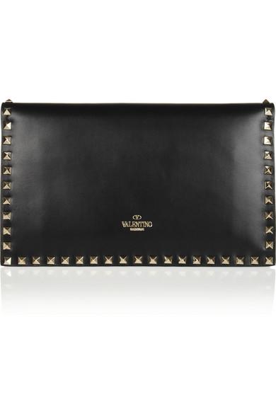 74c64a6babe1b Valentino Garavani The Rockstud leather clutch.  1