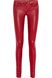 Saint Laurent Skinny stretch-leather pants