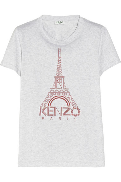T Print Cotton Eiffel Jersey Shirt Tower fgby76