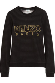 KENZO Striped-lining cotton sweatshirt