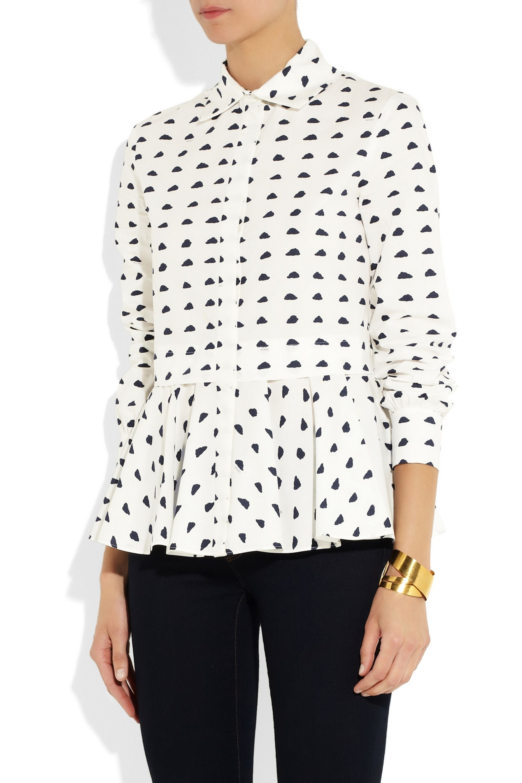 KENZO Cloud-print cotton shirt