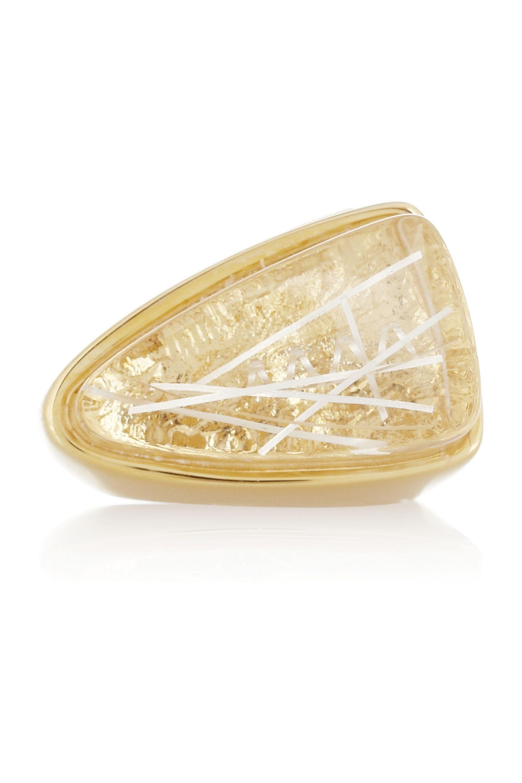 Chloé Bettina gold-tone resin ring
