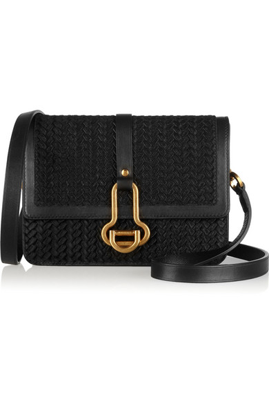 f44e8bf084b Maiyet | Sophie small leather-trimmed braided calf hair shoulder bag ...