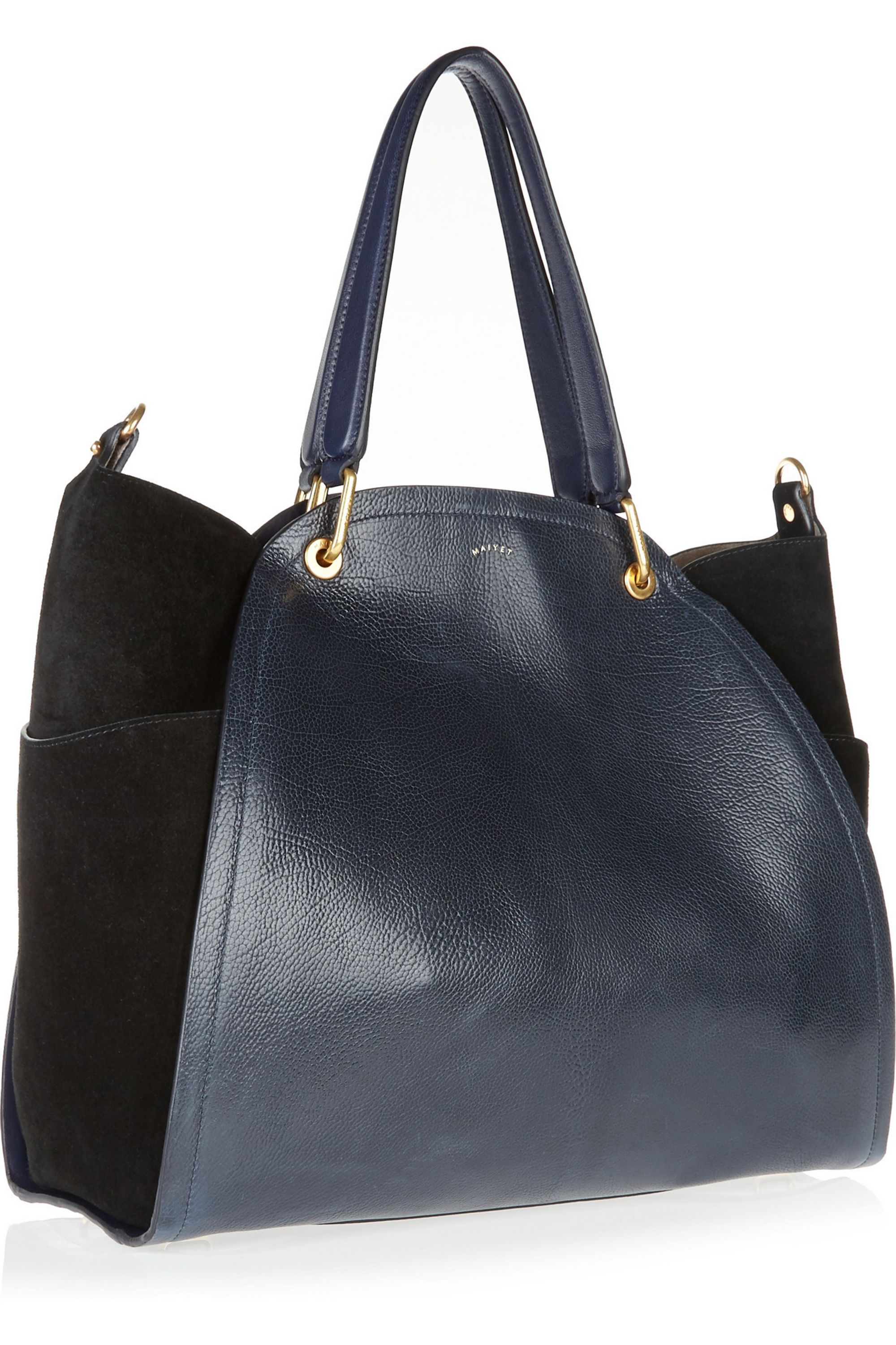 Maiyet Peyton medium textured-leather and suede shopper