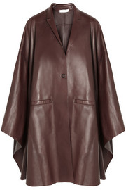 Bordeaux leather cape