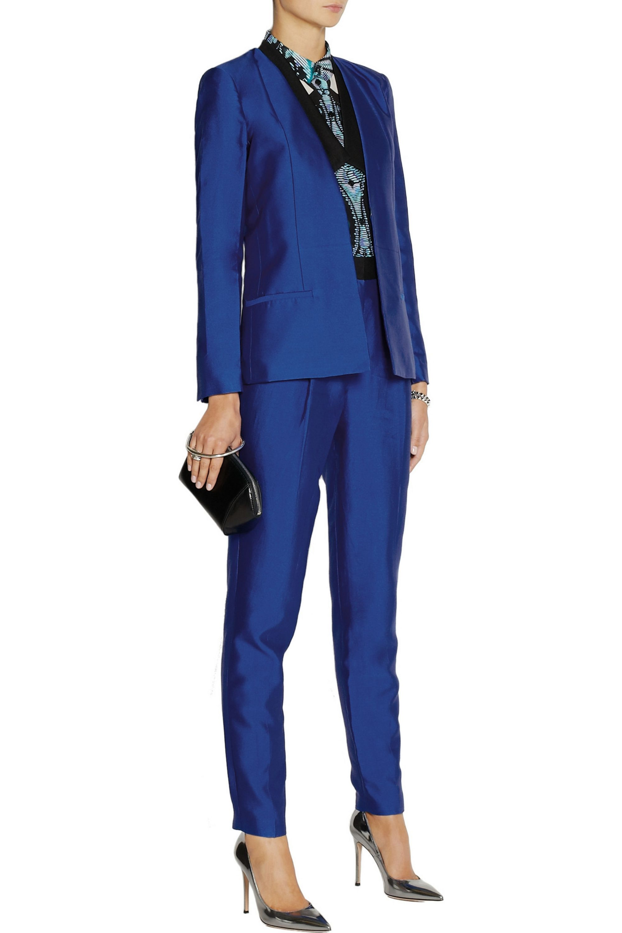 By Malene Birger Chima silk and cotton-blend tapered pants