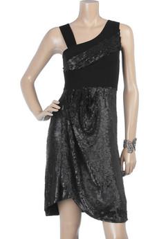 PreenAsymmetric sequin dress