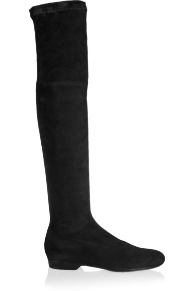 Fuji stretch-suede over-the-knee boots