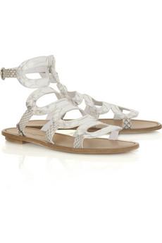 Sergio RossiCircle python sandals