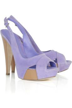 Sergio Rossi|Suede platform sandals|NET-A-PORTER.COM