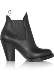 Star leather ankle boots
