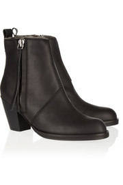 Acne Studios The Pistol shearling-lined leather ankle boots
