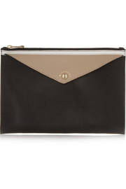 Givenchy Color-block leather envelope pouch