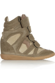 Isabel Marant The Bekett suede concealed wedge sneakers