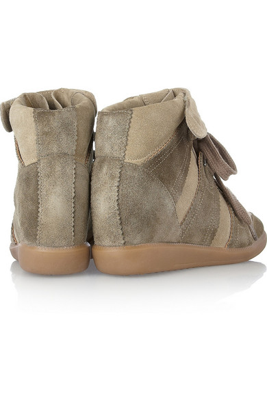 2e1299fe90 Isabel Marant. Bluebel suede concealed wedge sneakers. $486.50. Zoom In