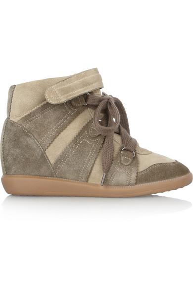 Isabel Marant. Bluebel suede concealed wedge sneakers