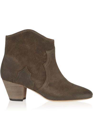 isabel marant the dicker suede ankle boots net a porter com. Black Bedroom Furniture Sets. Home Design Ideas