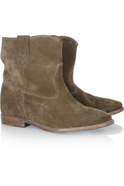 Isabel Marant Crisi leather concealed wedge biker boots