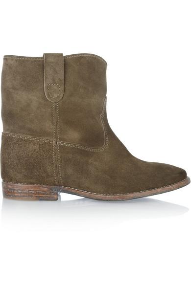 isabel marant crisi leather concealed wedge biker boots net a porter com. Black Bedroom Furniture Sets. Home Design Ideas