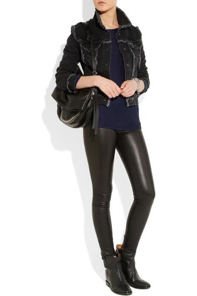 isabel marant cluster leather concealed wedge biker boots net a porter com. Black Bedroom Furniture Sets. Home Design Ideas