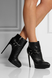 Janis python ankle boots