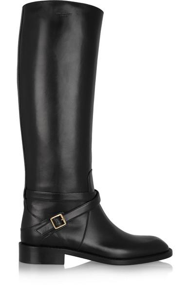 Saint Laurent Leather Riding Boots Nojy2Q