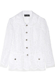 Dolce & Gabbana Lace and silk-organza jacket